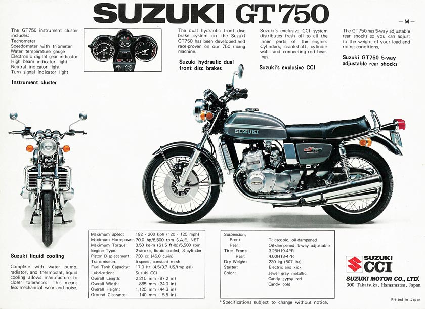 Suzuki GT750.