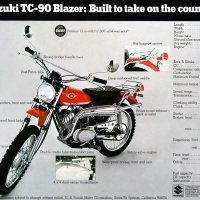 1970 Suzuki TC-90 Blazer.