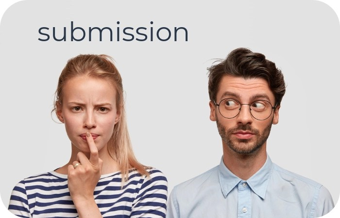 couple considering the concept of submission