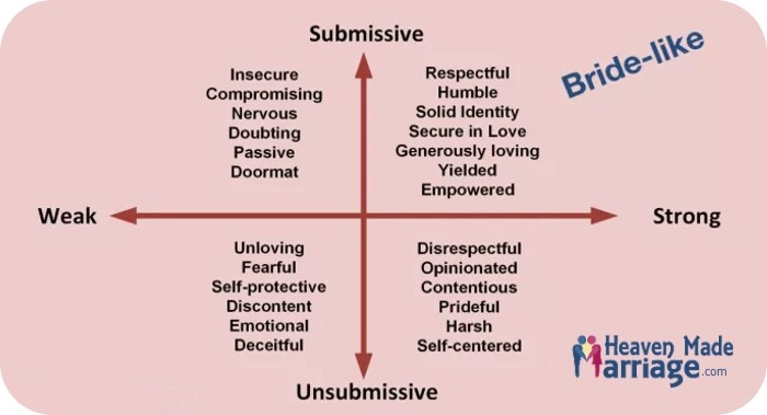 chart explaining submission and strength