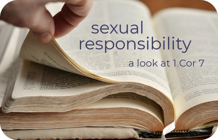sexual responsibility by Paul