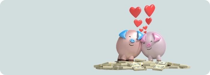 loving piggy banks