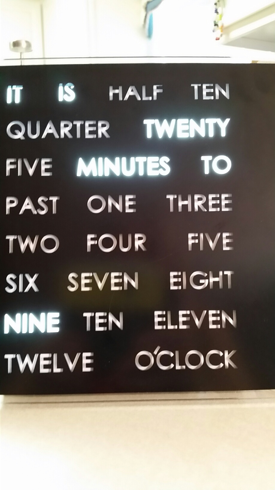 Awesome Word Clock The Martha Review