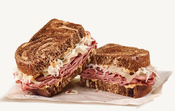 Delicious arby 39 s fish sandwich is close to their reuben for Arby s fish sandwich 2017