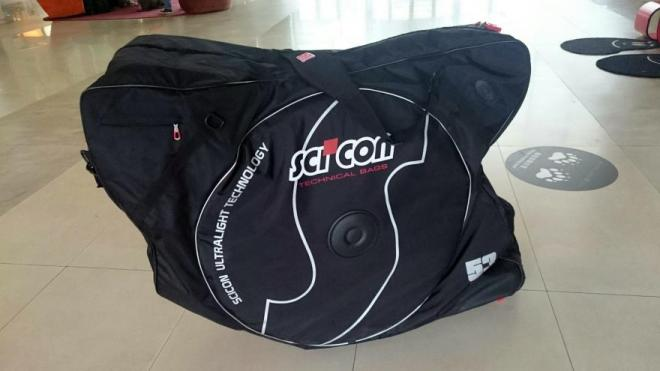 Scicon AeroComfort 2.0 bike bag - packed