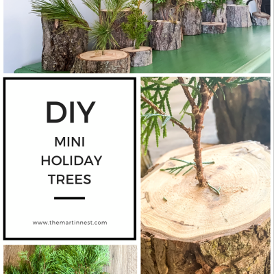 DIY mini holiday trees