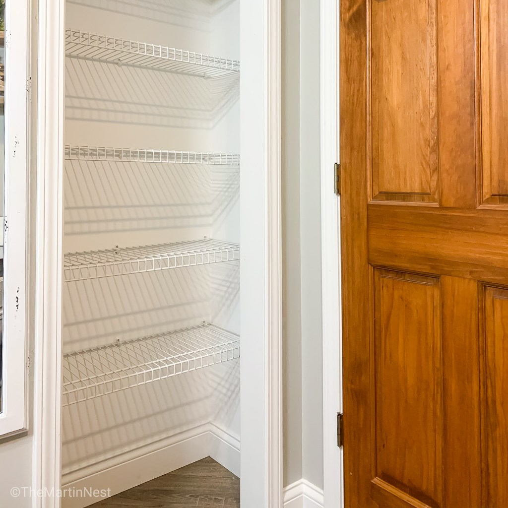 How to Cover Wire Shelves a DIY tutorial