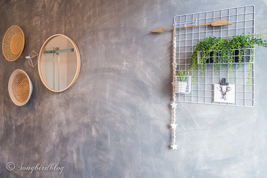 Faux Concrete Painted Wall