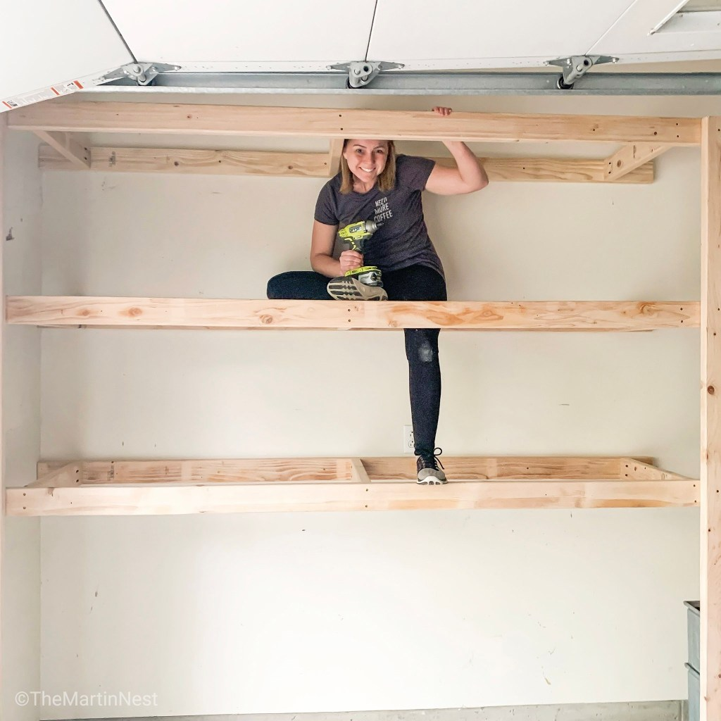 Easy 2 x 4 Storage Shelves