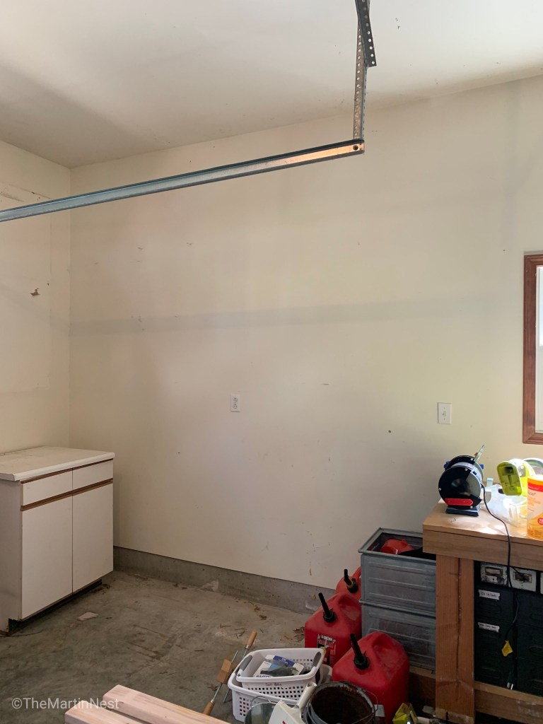 One Room Challenge Garage Makeover Before