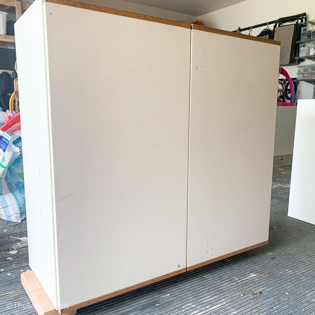 Laminate Cabinet Makeover