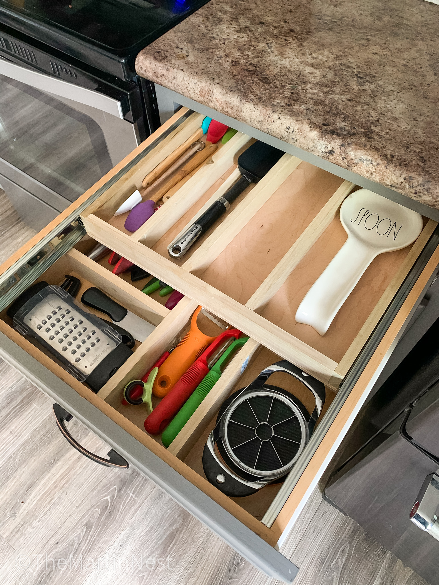 DIY two-tiered Drawer Organizer