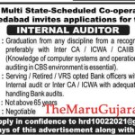 Multi State-Scheduled Co-Operative Bank Ahmedabad Recruitment For Internal Auditor Posts 2021