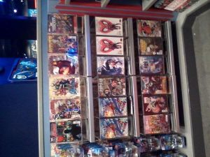 The wall of comics. note deadpool and the agent carter variant!