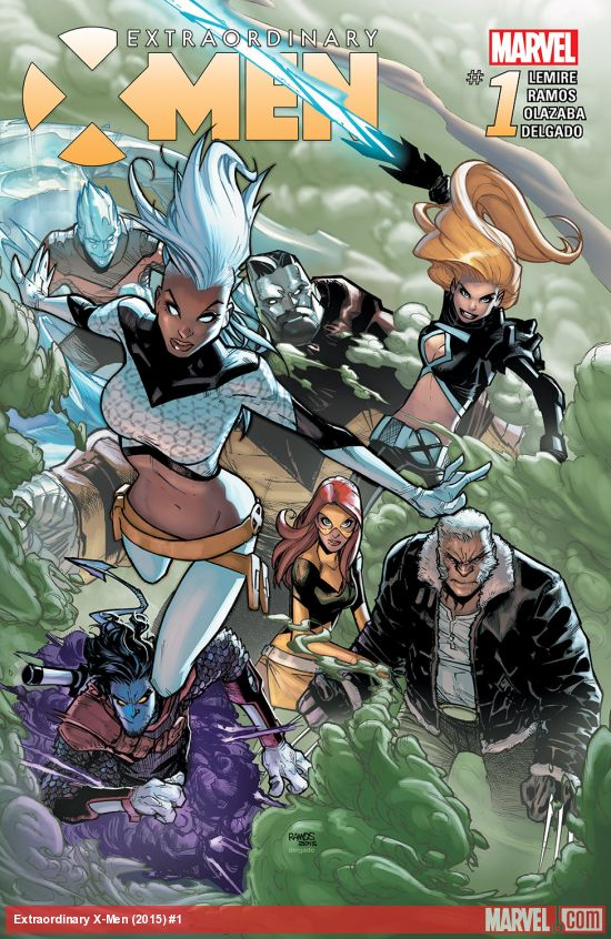 The cover of Extraordinary X-Men #1