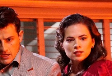 """Peggy Carter and Daniel Sousa from Agent Carter 2.01 """"Lady in the Lake."""""""