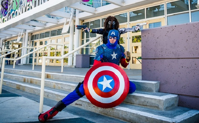SDCC Captain America cosplay meetup