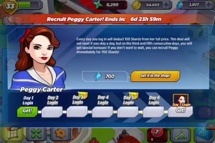Peggy Carter Requirements