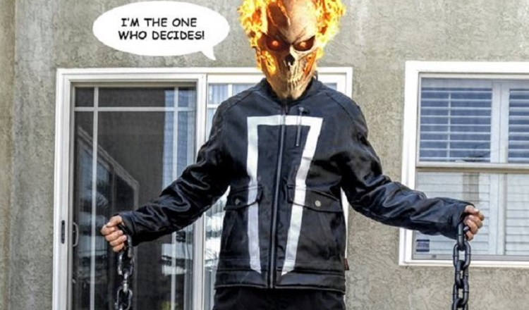 Ghost Rider leather jacket