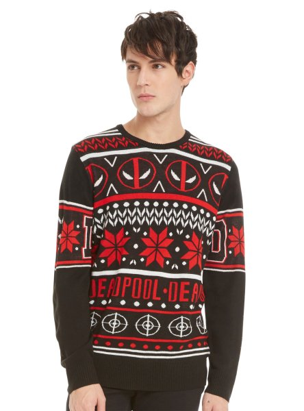 Buy this Deadpool sweater for that crazy fdriend who sees the world in his own unique way.