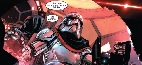 Captain Phasma #2 Review Phasma shoot out of the sky