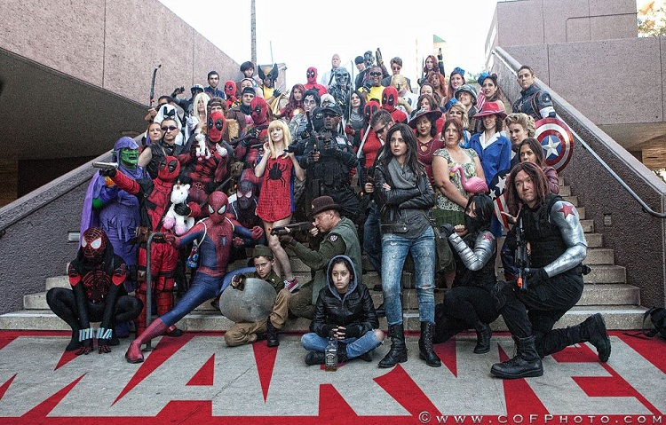 ACE Comic Con Marvel cosplay meetup
