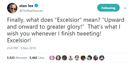 Stan Lee tweet