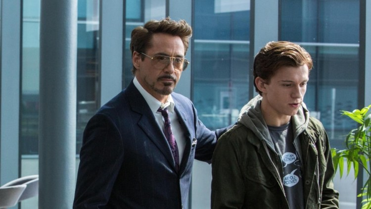 Tony Stark Peter Parker Spider-Man Homecoming