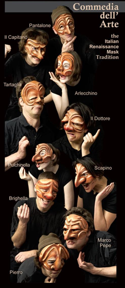 Brand New Commedia dell/'arte Mask