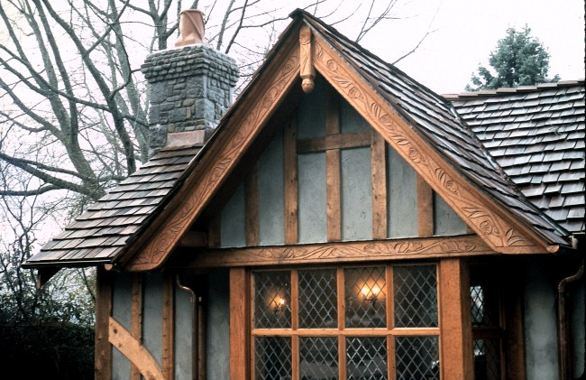 Tudor Gable with rose vines