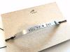skinny stamped aluminium bracelet