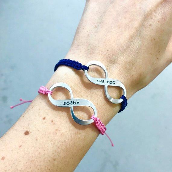 personalised infinity bracelets
