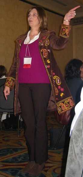 Claire Mcgee delivering a seminar.