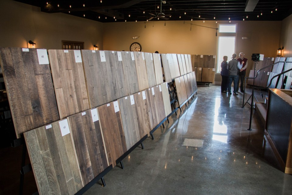 We showed over 100 samples of prefinished flooring to local retailers and designers in the Kansas City area at 8th & Main Event Space in Grandview, MO.