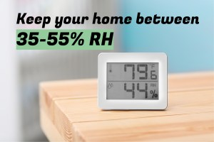 RH levels in home