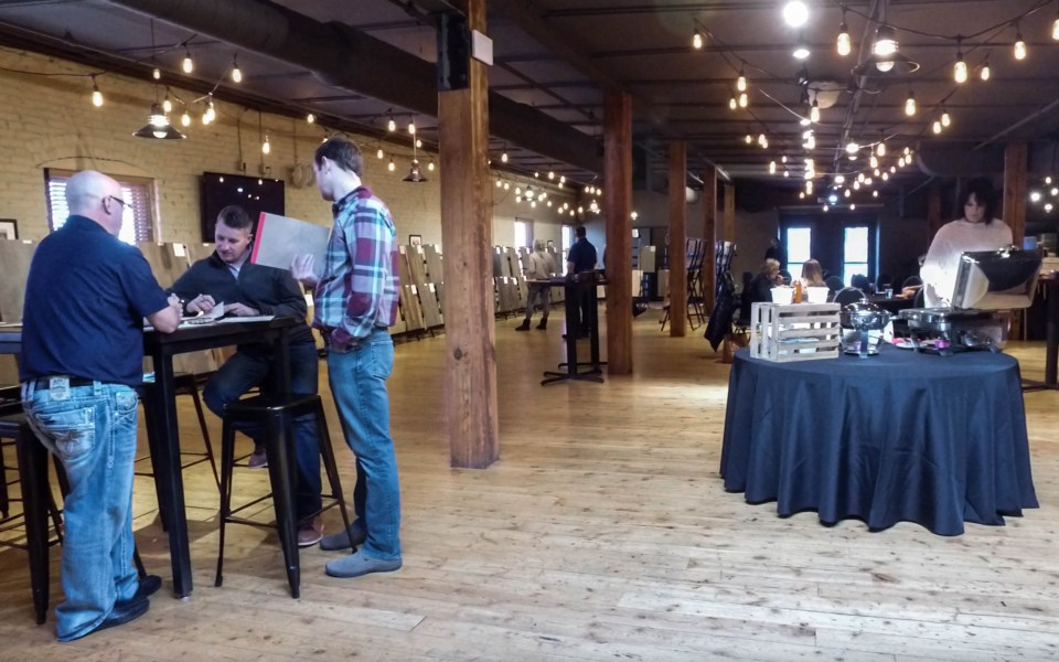 Not only did we show a lot of flooring, we also had some great food catered by The Old Mattress Factory.