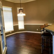 This beautiful wood flooring, Helmsman Meridian, was installed throughout a home in Bartlesville, Oklahoma. It was installed by Sooner Carpet of Bartlesville in March 2018 and the homeowners are very pleased with the turn out and how it has performed over the past 10 months.