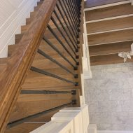 "Vintage Loft ""Millhouse"" installed along with FloorNose on the stairs."