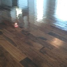 Installation of unfinished red oak. 2 1/4, 3 1/4, and 5 inch planks. 1232 square feet. Stained jacobean. Masterline finish. Duraseal stain.<br /><small>Photographer: Aaron P</small><small>    Location: Kearney, Missouri</small><small>    Business: Hardwood Floor Essence</small>