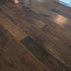Installation of unfinished red oak. 2 1/4, 3 1/4, and 5 inch planks. 1232 square feet. Stained jacobean. Masterline finish. Duraseal stain. <br /> <small>Photographer: Aaron P </small><small>Location: Kearney, Missouri </small><small>Business: Hardwood Floor Essence </small><br />