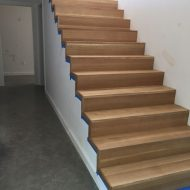 New residential build with white oak floors that were sanded!
