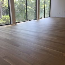 New residential build with white oak floors that were sanded! <br /> <small>Photographer: Jennifer Hodges </small><small>    Location: Austin, Texas </small><small>    Business: Stratum Floors </small><br />