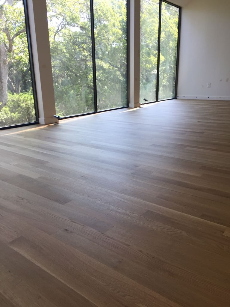 New residential build with white oak floors
