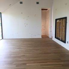 New residential build with white oak floors that were sanded. <br /> <small>Photographer: Jennifer Hodges </small><small>Location: Austin, Texas </small><small>Business: Stratum Floors </small><br />