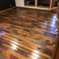 Antique Grade Red Oak sand and finish floor