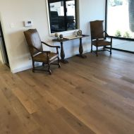 Gallery Louvre White Oak installed by Nelson Construction at an advertising company office in Abilene, TX