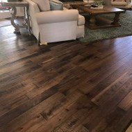 "Storehouse ""Barrel"" White Oak floor from Real Wood Floors installed in a living room in Altus, OK."
