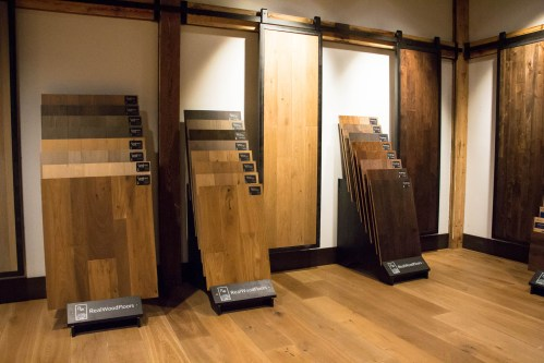 Displays for Longhouse Plank, Vintage Loft, and Ponderosa from Real Wood Floors.