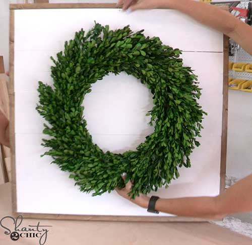 DIY Wreath Wood Decoration