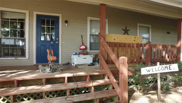Front door of boys' home